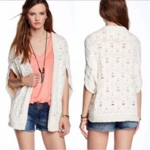 Free People Oversized Cable Knit Sleeveless Vest